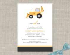 Dump Truck Invitations
