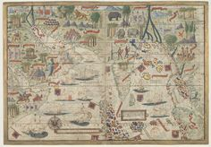 Chart of the Indian Ocean, 1519, by Lopo Homem #map #indianocean #india