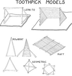 - Toothpick Art/Building with Toothpicks - Making Toothpick Models Crafts For Girls, Arts And Crafts, Toothpick Crafts, Easter Crafts, Christmas Crafts, Wood Crafts, Diy Crafts, Summer Activities, Fun Projects