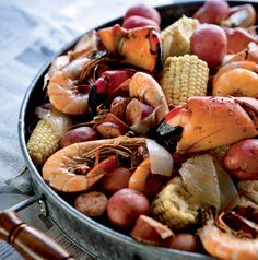 Frogmore Stew is great (also called Lowcountry Boil). This is from FIG restaurant in Charleston.
