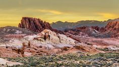 Sunset at the Valley of Fire in Nevada