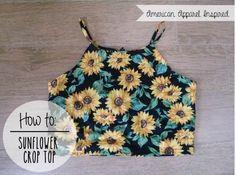 DIY | Sunflower Crop Top | PEABRAIN DIY