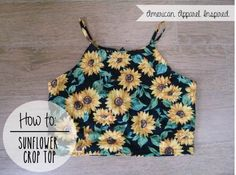 DIY | Sunflower Crop Top | PEABRAIN DIY