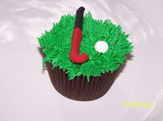 Hockey themed cupcake#Pin By:Pinterest++ for iPad# Hockey Cupcakes, Teacher Cupcakes, Themed Cupcakes, Hockey Birthday, Hockey Party, Sports Birthday, Field Hockey Sticks, Hockey Quotes, Hockey Gifts