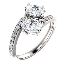 1.5 Ct Oval Diamond Engagement Ring 14k White Gold – Goldia.com