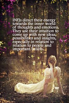INFJ how can this pinpoint me so much better than some of the people I've known forever... Maybe my bitchiness comes from people's lack of understanding me and what I really mean...