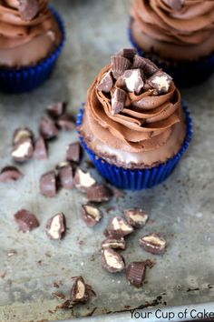 Chocolate Chocolate Peanut Butter Cupcakes