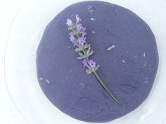 Lavender Play Dough Recipe: 2c flour, 1c salt, 2Tbs veg oil, 2 Tbs cream of tartar, 1-1.5c boiling water, food coloring, few drops glycerine (secret ingredient for extra smoothness & shine) - mix, knead & finally add fresh lavender.