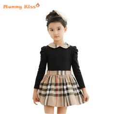 04249e69e ... comprida xadrez crianças vestido de princesa