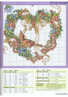 Guirlandes de fleurs les quatre saisons grilles point de croix (5)