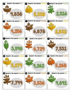 Round 4-Digit Numbers to Nearest Ten, Hundred, or Thousand | TpT Classroom Resources, Teacher Resources, Fourth Grade, Third Grade, Creative Teaching, Teaching Ideas, Math Task Cards, 4th Grade Classroom, Pre And Post
