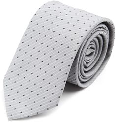 Hugo   Hugo Boss Grey Tie With Black Spots - 40% off, now $59.07 @ #Menlook  #HugoBoss