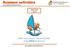 Horké letní počasí přímo vybízí k aktivitám spojeným s vodou 🌞🌊 Zkoušeli jste se někdy plavit na plachetnici? ⛵ Jaké to bylo? #anglictina #AnglictinaBezBifl #leto Summer Activities, Sailing, Candle