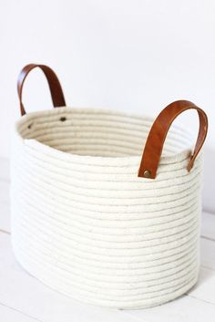 They had me a no-sew DIY. I think I've dropped $100 on a basket like this. Now it's an easy DIY. Thank you Alice & Lois. The How-To: Visit Alice & Lois for full directions.