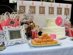 Shabby Chic Baby Shower Candy Table...LOVE this!!