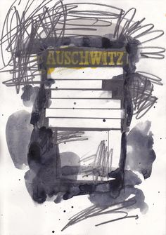 Auschwitz 21 x 29.7 cm  Watercolour & graphite on paper