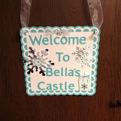 Frozen  Door Sign by whimzypartycreations on Etsy