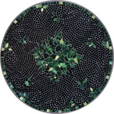Lovable Mosaic Bistro Table For Inspiring Home Furniture Ideas: Round Black Leaf Mosaic Bistro Table For Home Furniture Ideas
