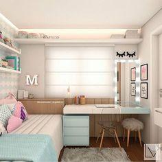Ideas for bedroom desk wall decor Modern Teen Bedrooms, Trendy Bedroom, Small Room Bedroom, Bedroom Decor, Bedroom Ideas, Kids Bedroom, Bedroom Bed, Small Rooms, Small Teen Room