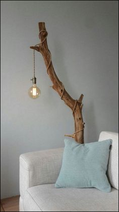 cover a stained tree branch with an industrial pendant light with a cord and a l. - cover a stained tree branch with an industrial pendant light with a cord and a l. cover a stained tree branch with an industrial pendant light with . Diy Casa, Industrial Pendant Lights, Light Pendant, Pendant Lamps, Pendant Lighting, Edison Bulb Chandelier, Driftwood Art, Driftwood Chandelier, Driftwood Ideas