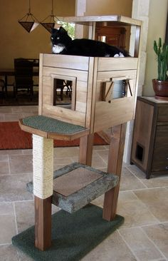 my diy cat tree this is fantastic when i get my cats i will definitely get one of these
