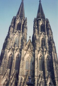 Cologne Cathedral, begun 1248; choir consecrated 1322; work stopped 1560; completed ca.1880 (Late Medieval)