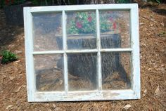 Vintage Antique 6 Pane Wood Window Frame From Old Southern Home HOLDS 8X10 Photo