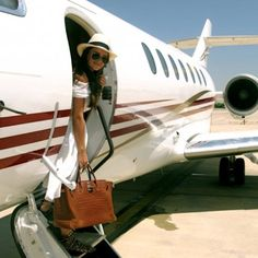 Private plane, Birkin and a smile all I need to visit the many exotic islands #atouchofluxury