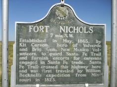 Oklahoma - Off the Beaten Path Historic Marker Fort Nicholas