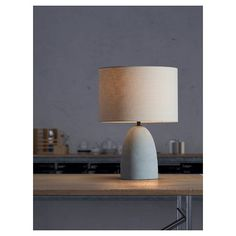 Zuo Vigor Table Lamp - Beige & Concrete Gray : Target
