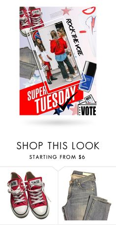 """""""Rock the Vote in Style"""" by cultofsharon ❤ liked on Polyvore featuring Converse, rag & bone and Racil"""