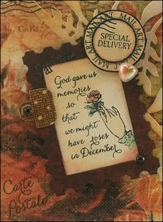 Amazing Paper Graces Sept Kit Club ...close up of card designed by Darsie Bruno