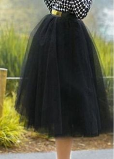 High Waist Black Gauze Flare Skirt on sale only US$18.65 now, buy cheap High Waist Black Gauze Flare Skirt at modlily.com