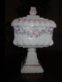 Cottage glass chic Westmoreland Roses & by