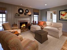 Rustic Living Room photo by Lisa Furey Interiors