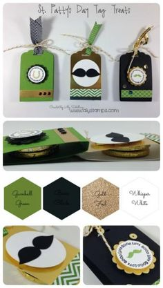 Splitcoaststampers FOOGallery - St. Patty's Day Tag Treats