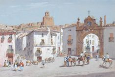 Lionel Lindsay, Australia (1874-1961) • Plaza de la Constitution • Watercolour • Herbert and May Shaw Bequest • 0757 #WaterColour #drawing Plaza, Constitution, Asian Art, Metal Working, Watercolour, Contemporary Art, Street View, Australia, Gallery