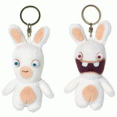 Porte clés les Lapins crétins en peluche, ils vous satisferont avec leur charme de lapinou :) #logostore #lapinscretins