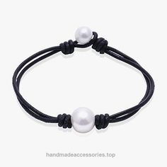 Ao Bei Single Cultured Freshwater Pearl Leather Bracelet Handmade Pearls Jewelry for Women-Black White 8″ Check It Out Now     $7.99    Handmade Cultured Freshwater pearls leather bracelet on genuine leather cord,Designed with 3 size for women, Custom si ..  http://www.handmadeaccessories.top/2017/03/24/ao-bei-single-cultured-freshwater-pearl-leather-bracelet-handmade-pearls-jewelry-for-women-black-white-8/