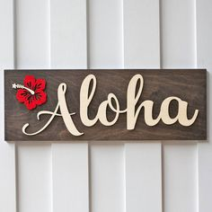 Aloha Sign,Luau Decor, Home Decor,Wood Sign,Front Door Porch Decor – GiftedOccasion.com