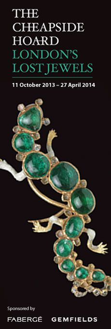 This October, the Museum of London will open a major new exhibition investigating the secrets of the Cheapside Hoard. This extraordinary and priceless cache of late 16th and early 17th century jewels and gemstones – displayed in its entirety for the first time in over a century – was discovered in 1912, buried in a cellar on Cheapside in the City of London.
