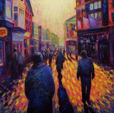 Grafton Street Dublin Painting by John Nolan