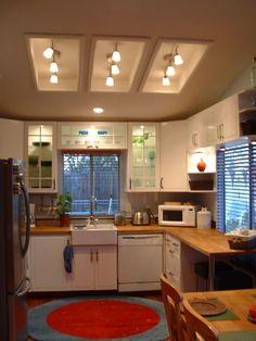 Updating Fluorescent Lighting Kitchen Decor Pinterest