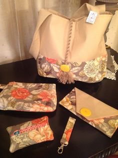Hand made bag with matching accessories, more colors & patterns available in store