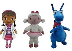 "Doc McStuffins Chit Chattin Talking Plush Set - Doc, Lambie and Stuffy by Disney. $79.78. Doc McStuffins is an American animated television series produced by Brown Bag Films, which premiered on March 23, 2012 on Disney Channel and Disney Junior. The series is about a six-year-old girl, Dottie ""Doc"" McStuffins, who can ""fix"" toys, with a little help from her stuffed animal friends, Stuffy, Hallie, Lambie and Chilly. During ending credits, Doc gives advice to vi..."