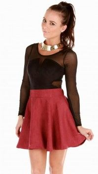 Spin me Round Skirt   Wine » Hex Effex Clothing