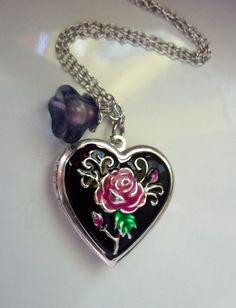 Heart Necklace Heart Locket Necklace by 5andUnder on Etsy