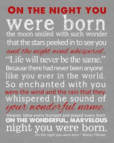 The night you were born...