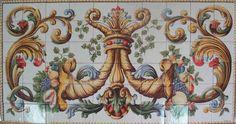 FÁBRICA DE AZULEJOS DE AZEITÃO – LEIVEIRA (junto ao Palácio da Bacalhôa em Azeitão) – Painel Inspirado na azulejaria do séc. XIX.