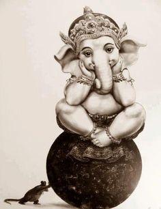 Om Gananaam tva Ganapati Gum Havamahe Kavimkaveenaa mupamashravastamam Jyestharajam Brahmanaam Brahmanaspata Aana shrunvanootibhi seedhasadhanam Maha Ganapataye Namah